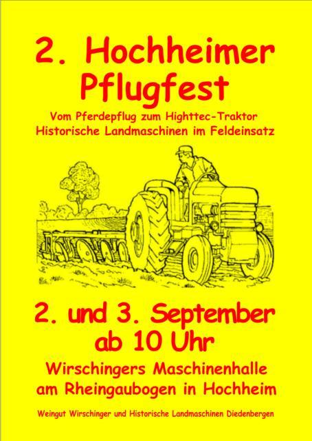 Oldtimer-Traktoren im Rhein-Main-Gebiet